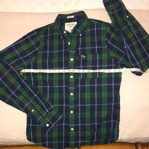Abercrombie & Fitch Shirts - Abercrombie & Fitch Muscle Plaid Button Down Shirt